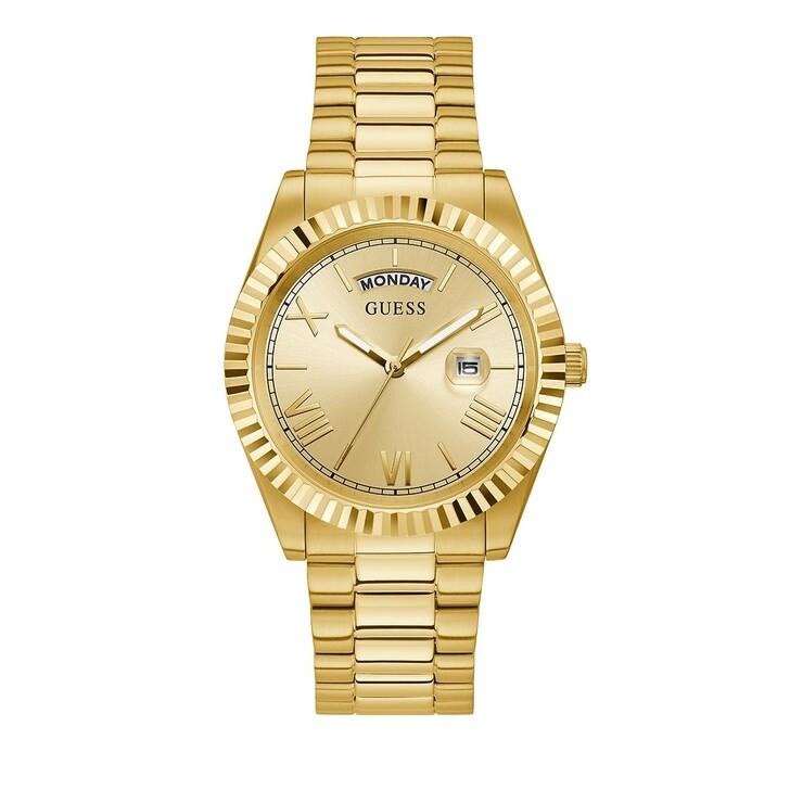 Uhr, Guess, MENS DRESS WATCH Gold Tone