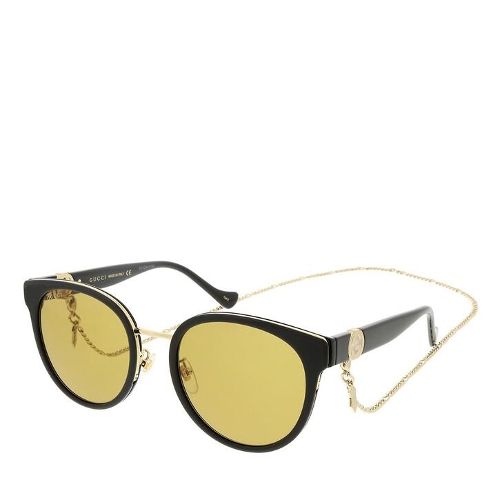 sunglasses, Gucci, GG1027SK-003 56 Sunglass Woman Injection Black-Black-Brown