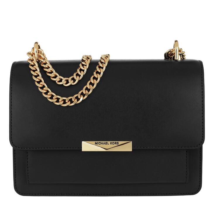 Handtasche, MICHAEL Michael Kors, Jade Large Gusset Shoulder Bag Black