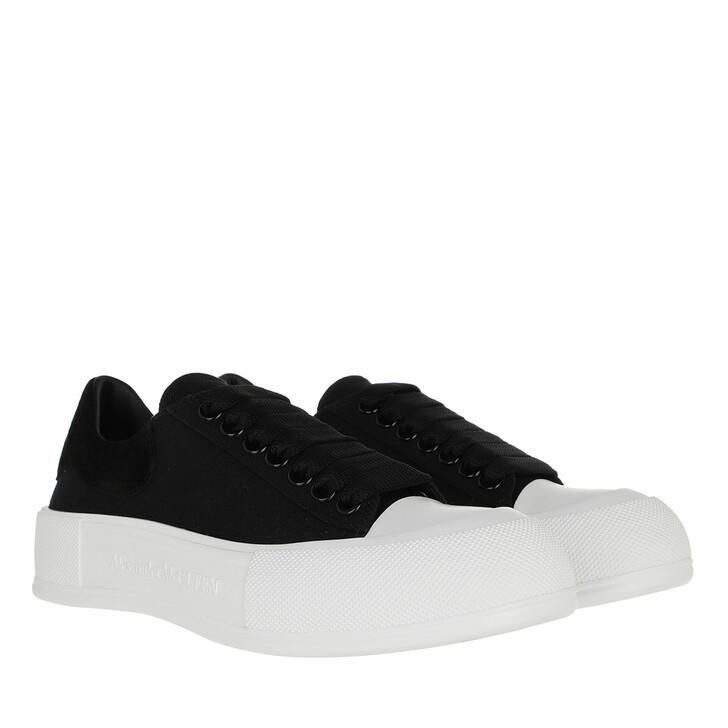 shoes, Alexander McQueen, Deck Lace Up Plimsoll Sneakers Black