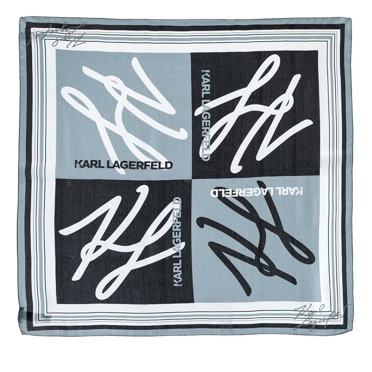Schal, Karl Lagerfeld, Autograph Scarf Black/White