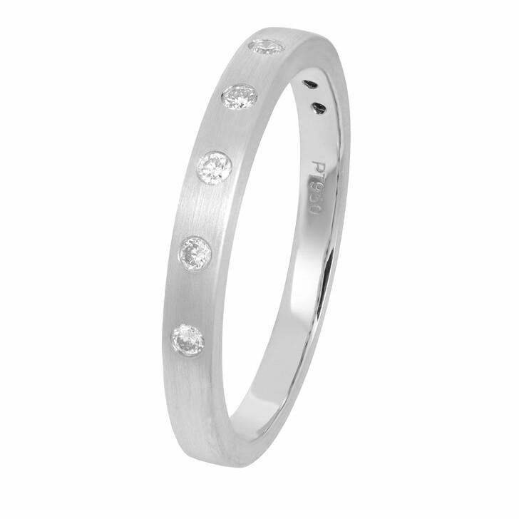 rings, VOLARE, Ring 5 Brill ca. 0,10 Platinum