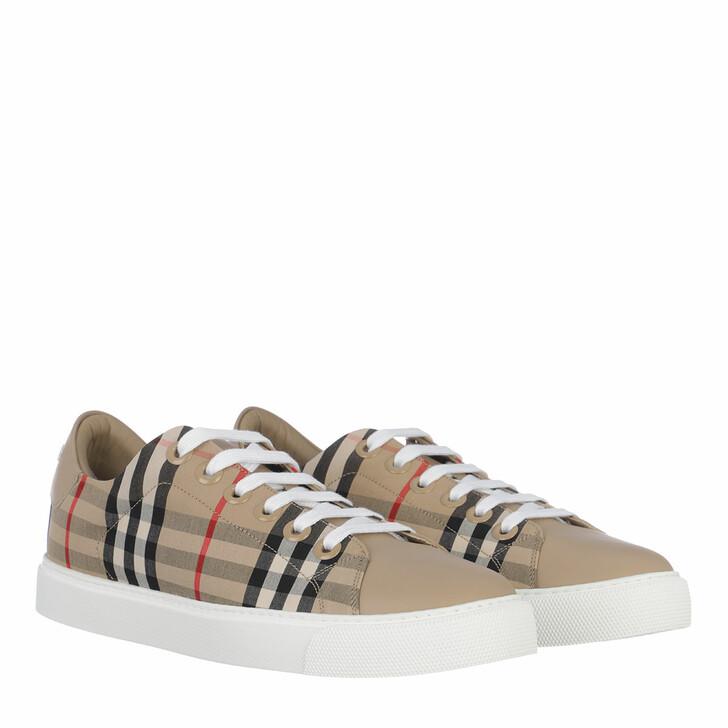 shoes, Burberry, Albridge Check Sneakers Archive Beige