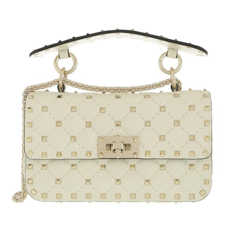 bags, Valentino Garavani, Rockstud Spike Crossbody Bag Small Light Ivory