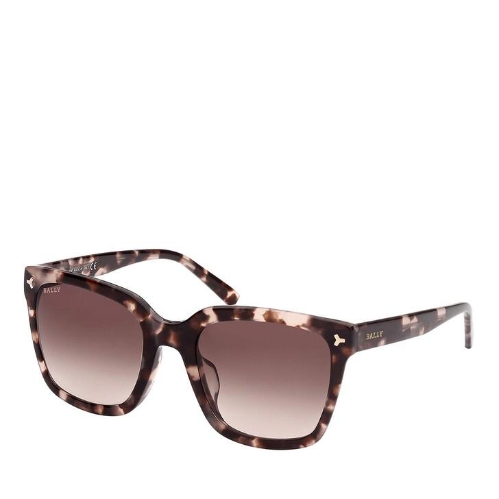 Sonnenbrille, Bally, BY0034-H Coloured Havana/Gradient Brown
