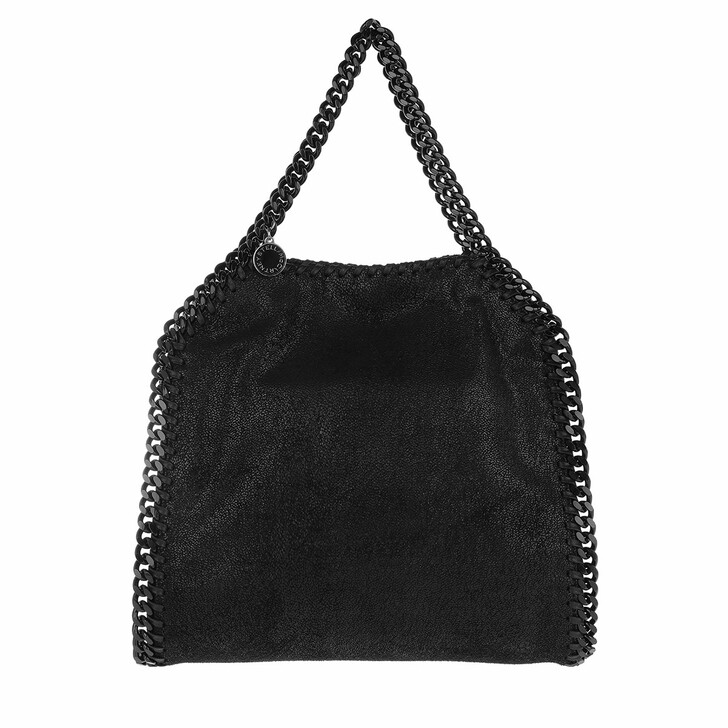 bags, Stella McCartney, Falabella Chain Mini Tote Black