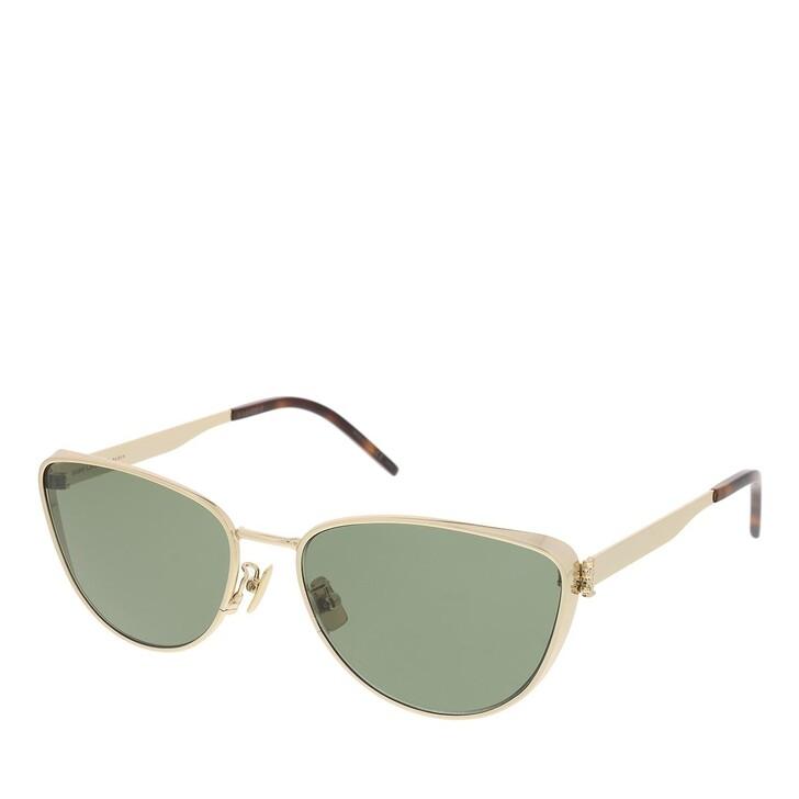 sunglasses, Saint Laurent, SL M90-003 58 Sunglass Woman Metal Gold-Gold-Green