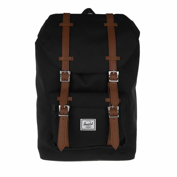 Reisetasche, Herschel, Little America Mid-Volume Backpack Black Tan