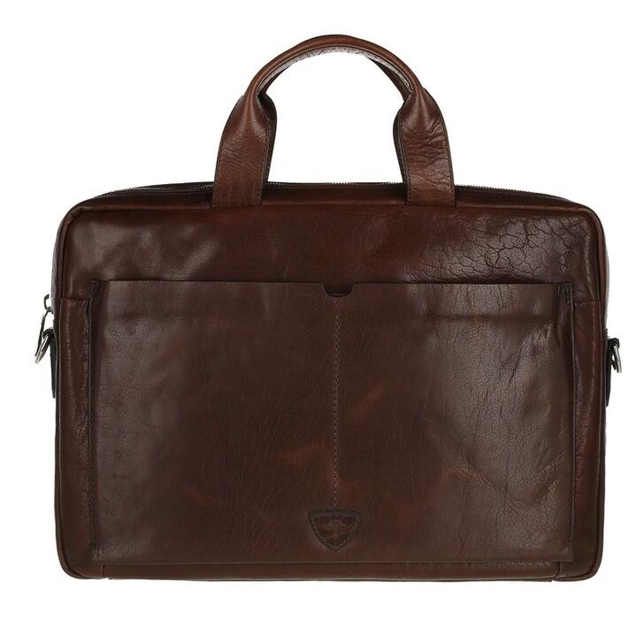 Handtasche, JOOP!, Brenta Pandion Briefbag shz 2 Darkbrown