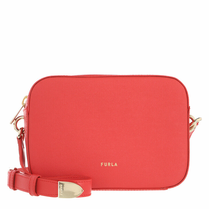 Handtasche, Furla, Block Mini Crossbody Fuoco