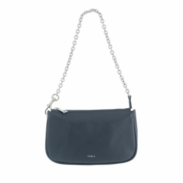 bags, Furla, Furla Moon Mini Shoulder Bag Blu D