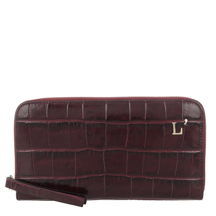 Geldbörse, L´Autre Chose, Zip Around Kokko Bag Bordeaux