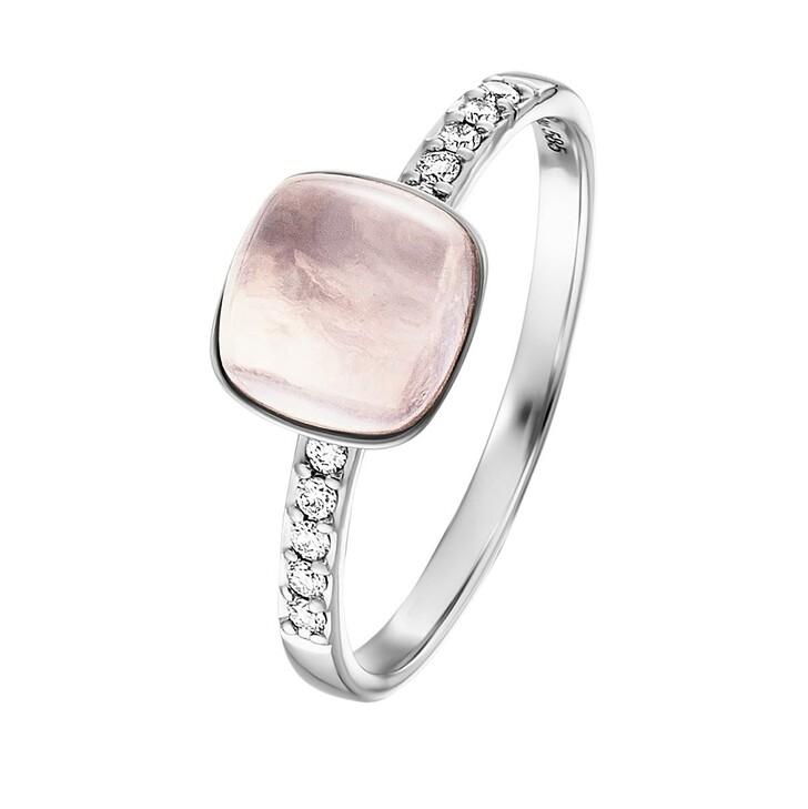 rings, BELORO, Stacking Ring Diamond Moonstone Grey 14k Medium White Gold