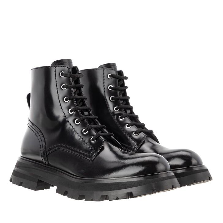 Schuh, Alexander McQueen, Wander Boots Leather Black