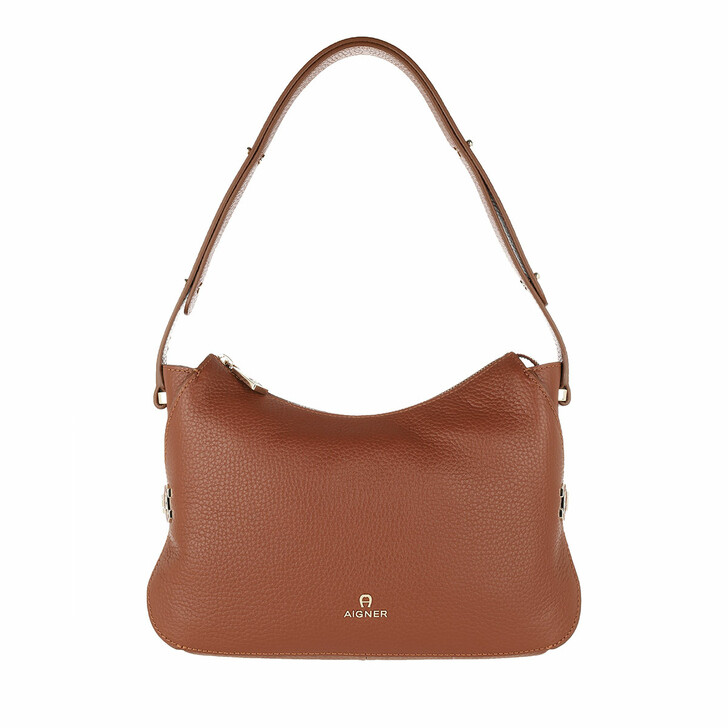 Handtasche, AIGNER, Milano Mini Bag Cognac