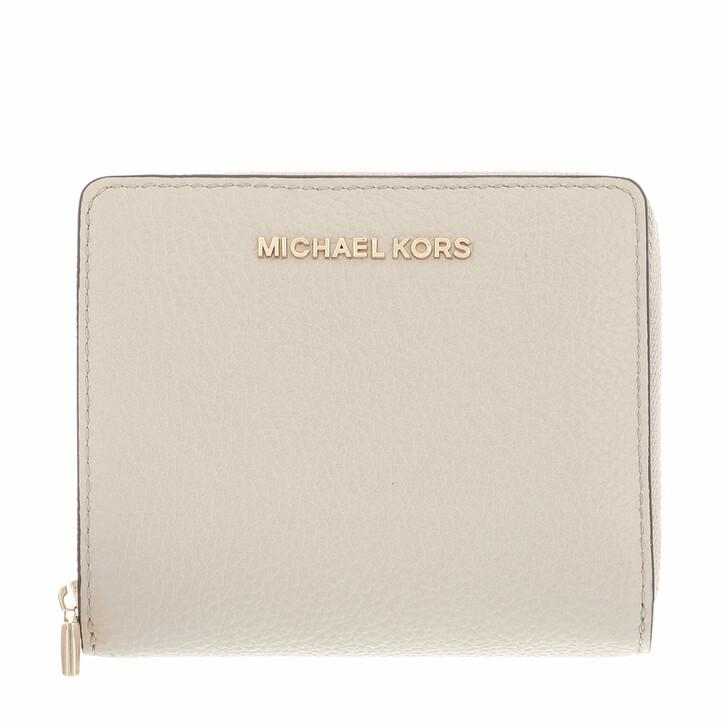 wallets, MICHAEL Michael Kors, Jet Set Medium Za Snap Wallet Light Sand