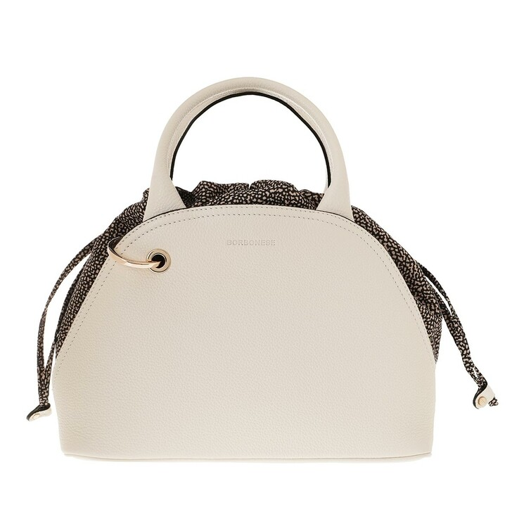 Handtasche, Borbonese, Medium Hand Bag  Beige/Op Natural
