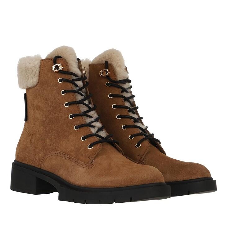 shoes, Coach, Lorimer Suede Bootie