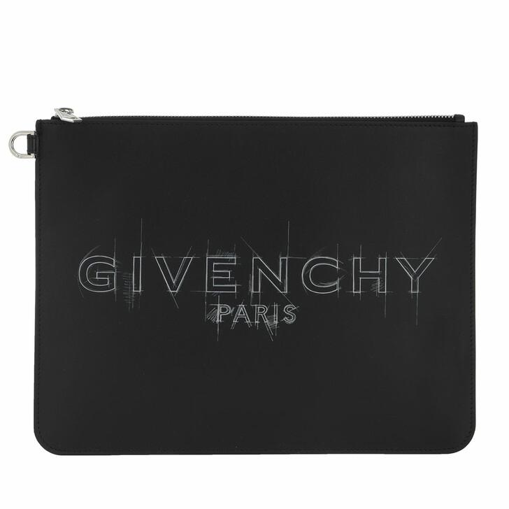 Handtasche, Givenchy, Large Logo Clutch Black