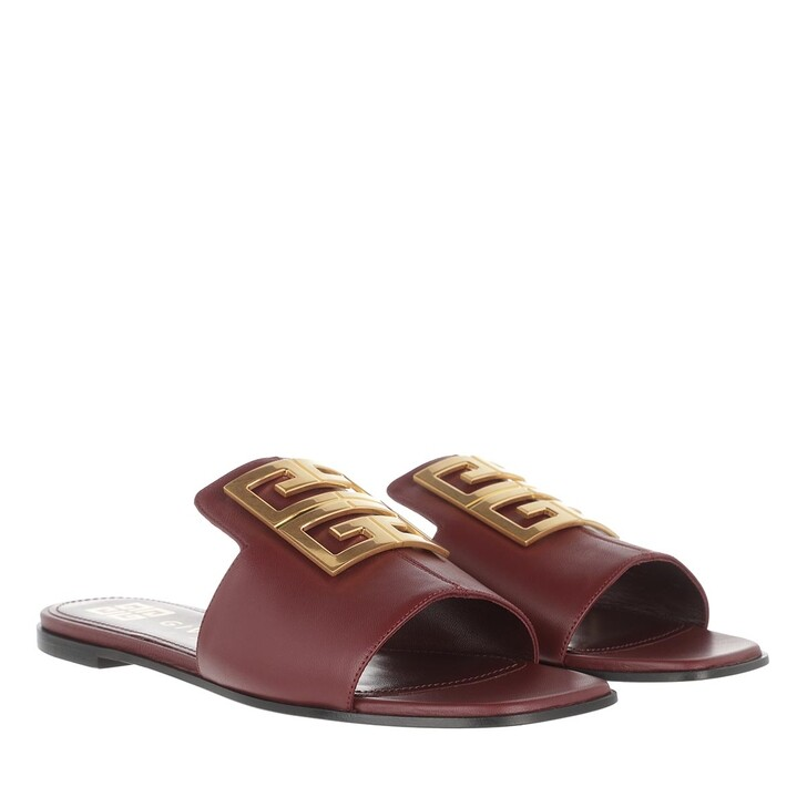 Schuh, Givenchy, 4G Sandals Grained Leather Burgundy