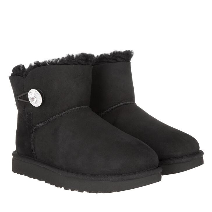 Schuh, UGG, W Mini Bailey Button Bling Black