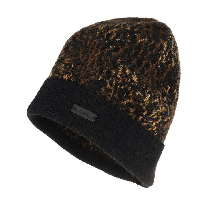 Mütze, Saint Laurent, Beanie Hat Beige Black