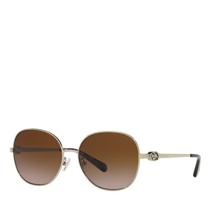 Sonnenbrille, Coach, 0HC7123 Light Gold/Brown