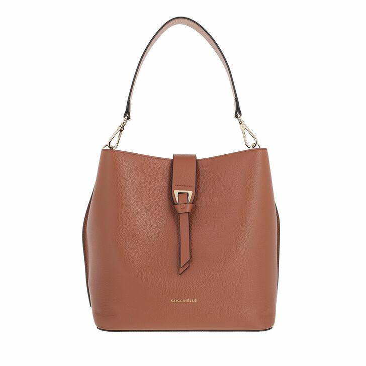 bags, Coccinelle, Alba Handbag Bottalatino Leather Cinnamon
