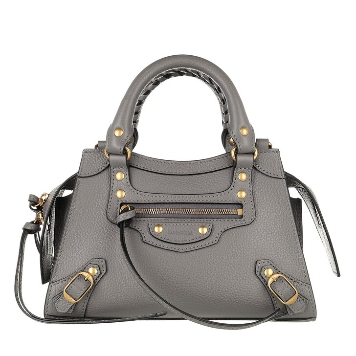 Handtasche, Balenciaga, Neo Classic Mini Top Handle Bag Grained Calfskin Grey