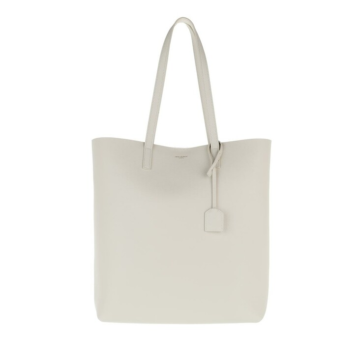 Handtasche, Saint Laurent, North South Tote Leather Crema