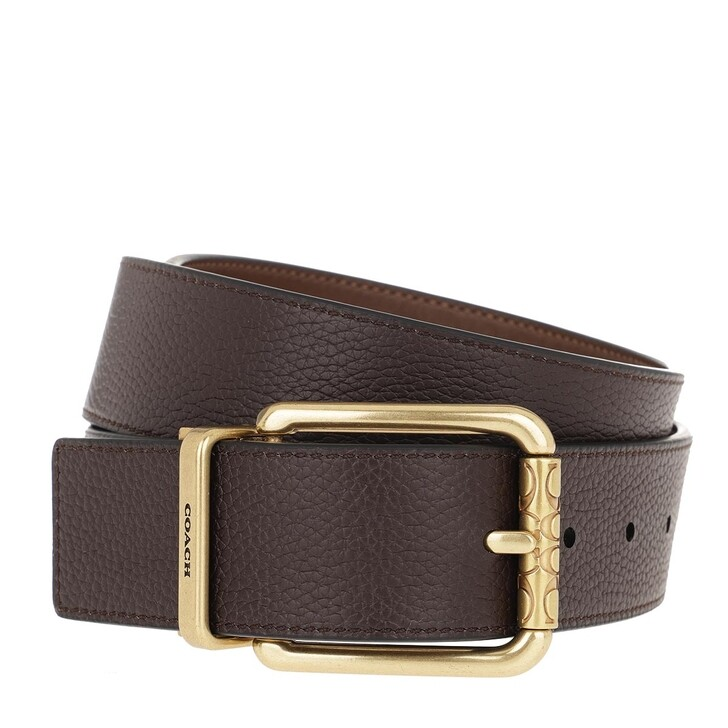 Gürtel, Coach, Men Cutable Belt Leather Oak/Saddle
