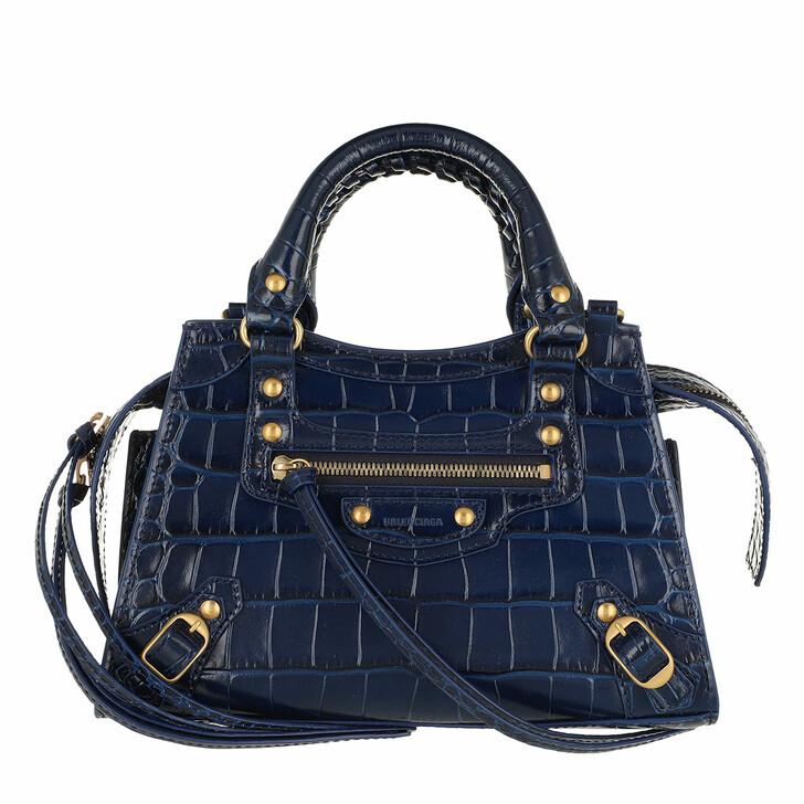 Handtasche, Balenciaga, Neo Classic Mini Top Handle Bag Leather Blue
