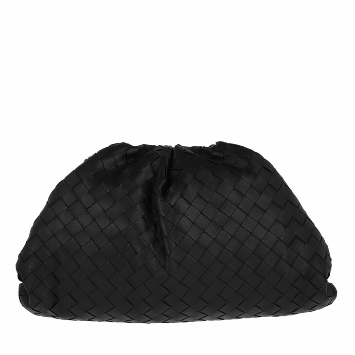 Handtasche, Bottega Veneta, The Pouch Clutch Black
