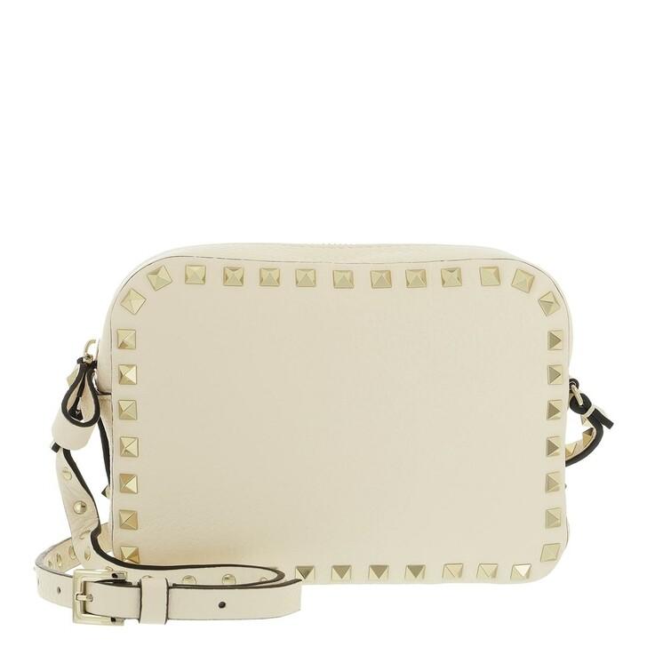 bags, Valentino Garavani, Rockstud Camera Crossbody Bag Light Ivory