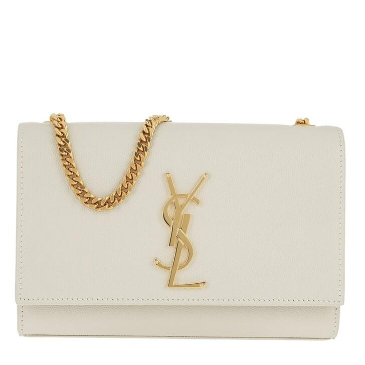 Handtasche, Saint Laurent, Monogramme Shoulder Bag Leather Blanc Vintage