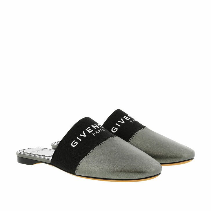 Schuh, Givenchy, Bedford Mules Leather Gunmetal