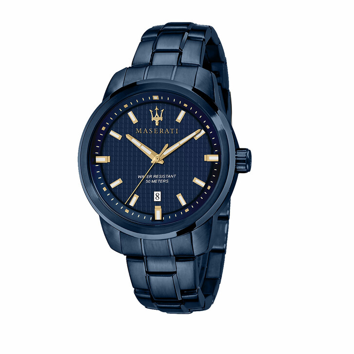 watches, Maserati, Blue Edition 3h Dial Blue