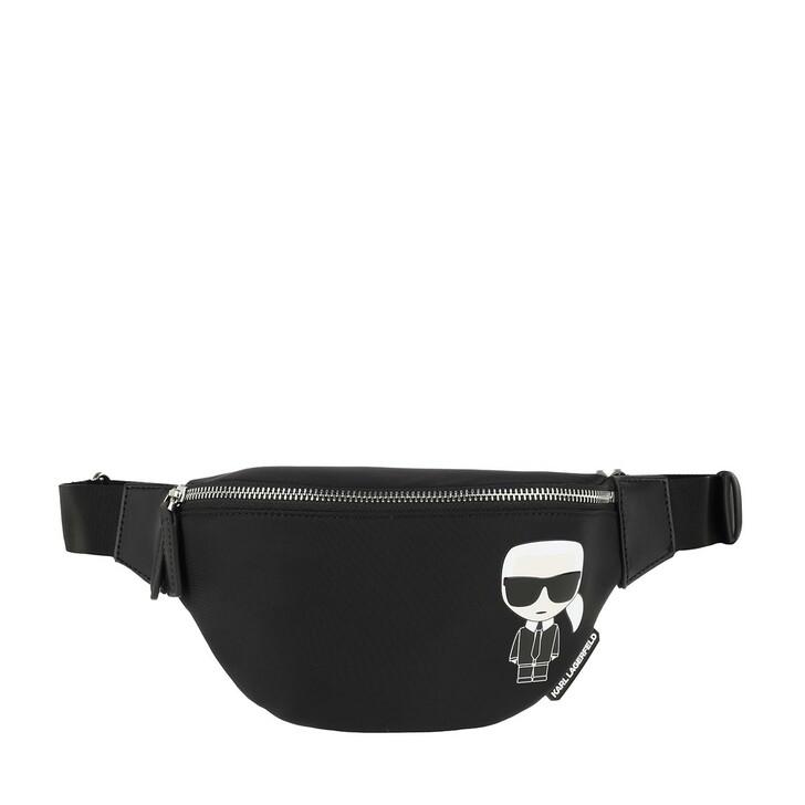 belt_bags, Karl Lagerfeld, K/Ikonik Nylon Bumbag Black