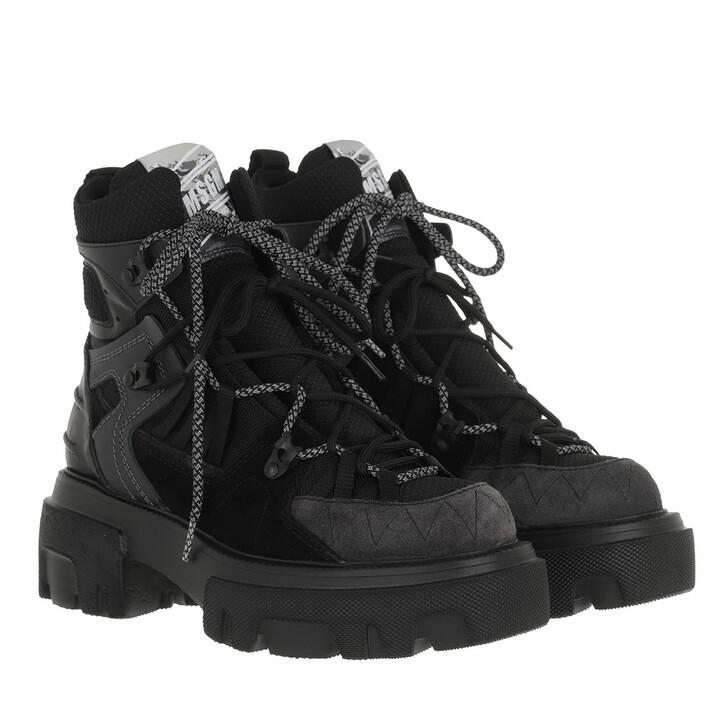 shoes, MSGM, Stivale Donna Black Dark Grey