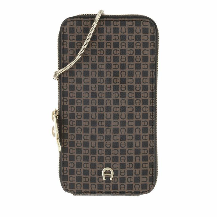 smart_cases, AIGNER, Fashion Mobile Case Dadino Brown