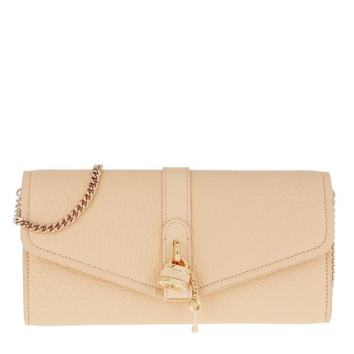 Handtasche, Chloé, Aby Wallet On Chain Wooden Beige