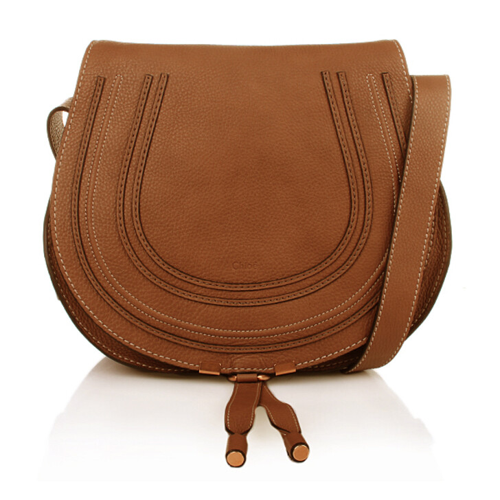 Handtasche, Chloé, Marcie Crossbody Large Tan