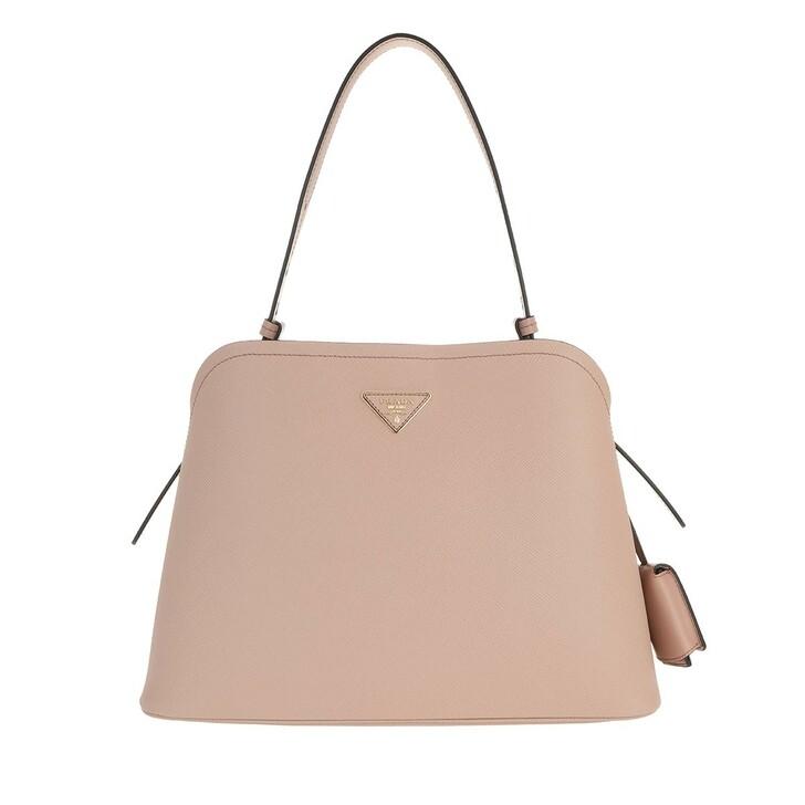 bags, Prada, Matinée Handbag Saffiano Leather Cipria