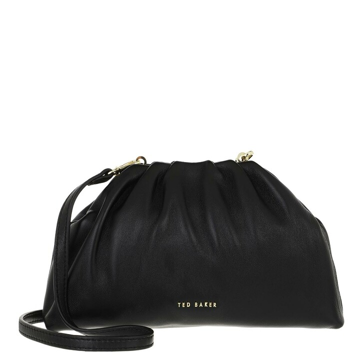 bags, Ted Baker, Dorieen Mini Gathered Slouchy Clutch Black