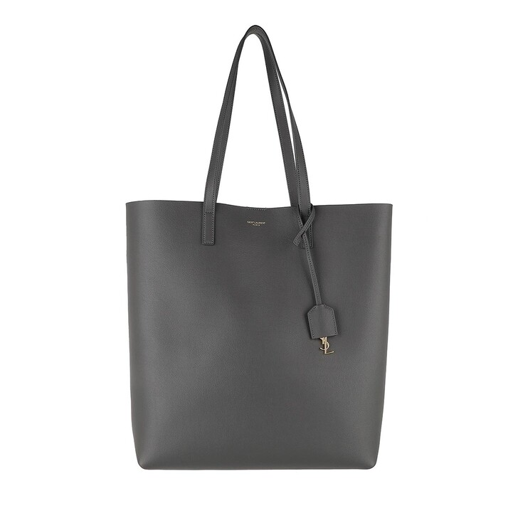 bags, Saint Laurent, North South Tote Leather Storm