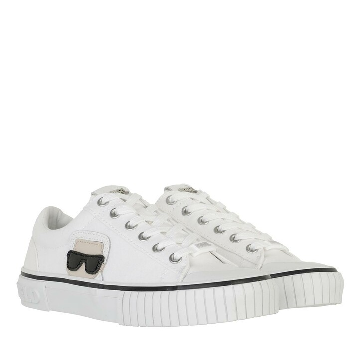 shoes, Karl Lagerfeld, KAMPUS II Karl Ikonic Lo Lace White Canvas