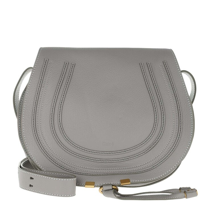 Handtasche, Chloé, Marcie Shoulder Bag Large Cashmere Grey