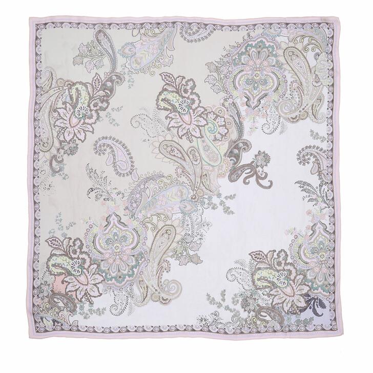 scarves, Roeckl, Flower Fusion Scarf 130x130 Multi Rosé