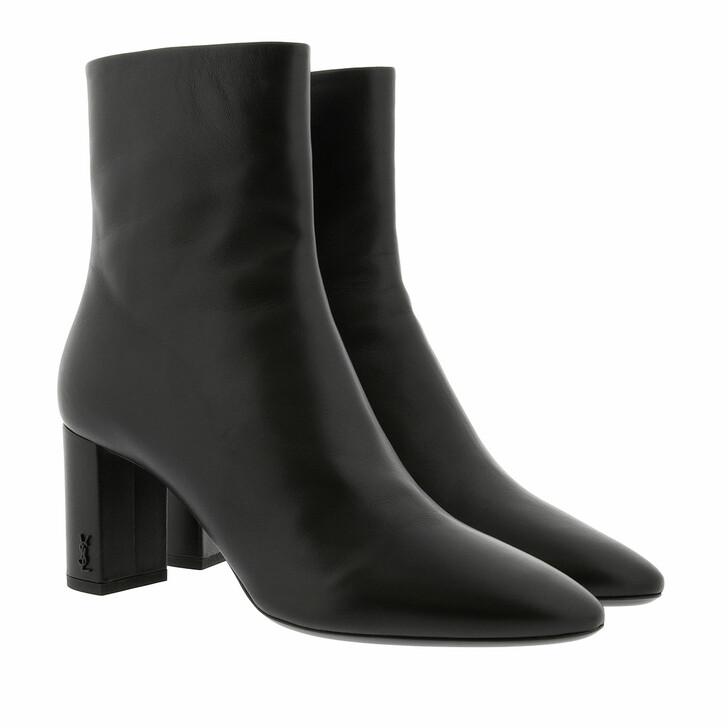 Schuh, Saint Laurent, Lou Booties Nappa Leather Black
