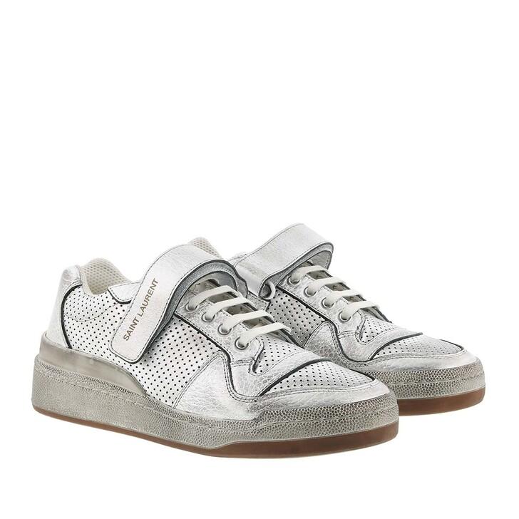 shoes, Saint Laurent, SL24 Logo Sneaker Silver